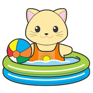Printable Paper Doll Swimming Pool