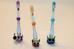 Monster Toothbrush Buddies