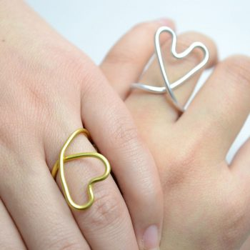 Wire-Wrapped Heart Ring