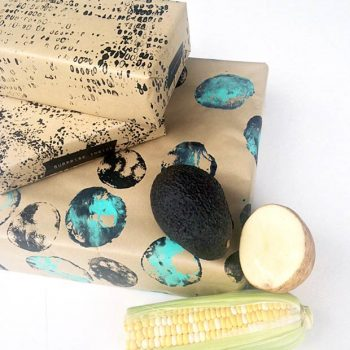 Produce-Printed Wrapping Paper