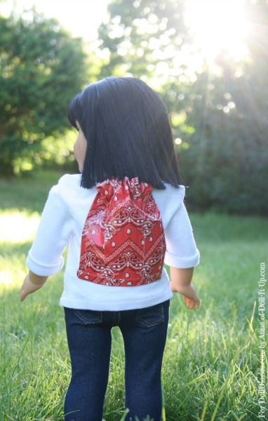 Doll-Sized No-Sew Drawstring Backpack