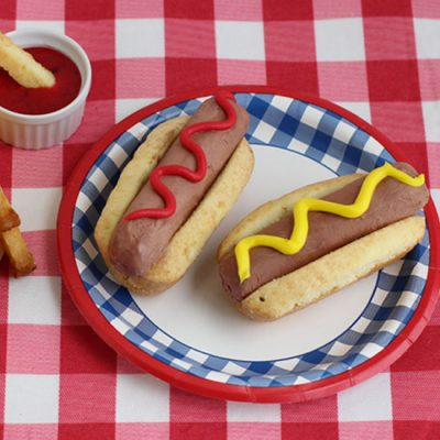 Chocolate Ice Cream Hot Dogs and Pound Cake Fries