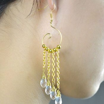 Chain Dangling Earrings