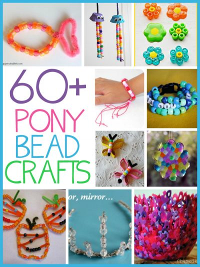 60+ Pony Bead Crafts for Kids! HOURS of fun here!