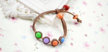 Embedded Suede Cord Bracelet