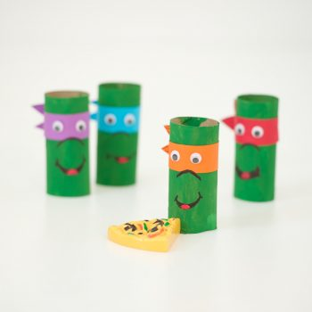Cardboard Tube Ninja Turtles