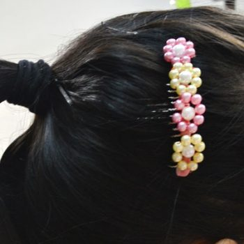 Flower Pearl Hair Comb
