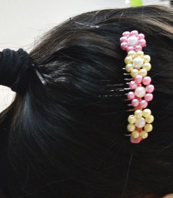 Pearl Flower Hair Comb