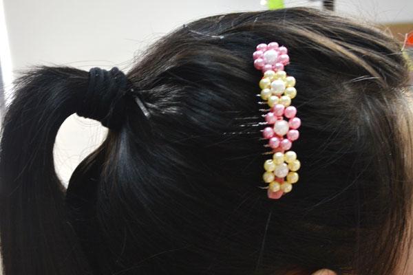 Flower Pearl Hair Comb