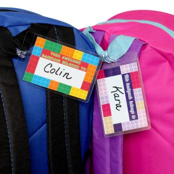 LEGO-Inspired Printable Backpack Tags