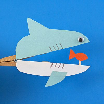 Clothespin Shark on Halloween Birthday Party Activities