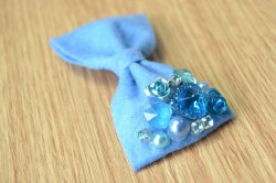 Embellished Felt Hair Bow