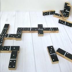 Wood Block Dominoes