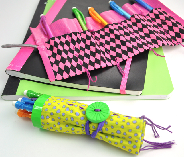 Fabric and Duct Tape Pencil Roll