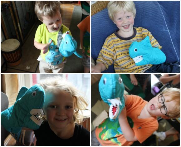 Oven Mitt Shark Puppet