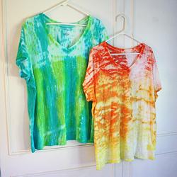 Ombre Shibori Tie Dye Top