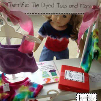 Doll-size Tie-Dye T-Shirt Shop