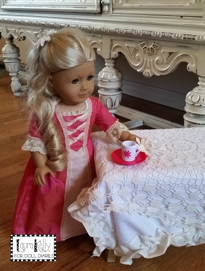 Victorian Doll Tablecloth