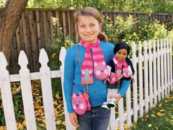 Cat and Mouse Scarf and Purse