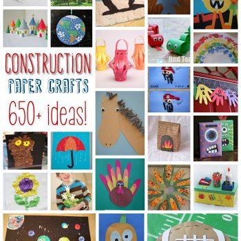 650+ Construction Paper Crafts