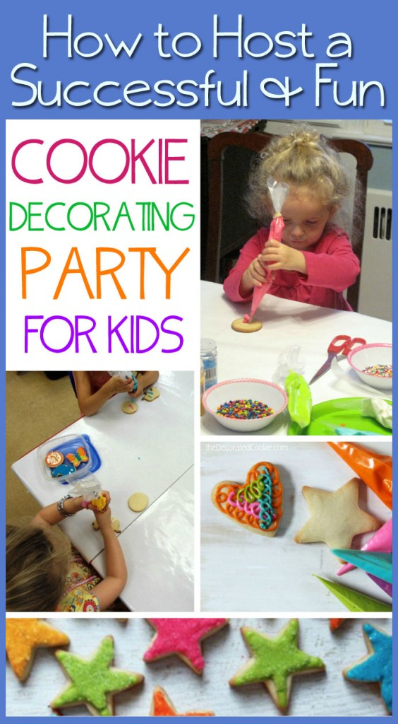 How to host a fun and successful cookie decorating party for kids! Lots of GREAT tips and ideas here!!