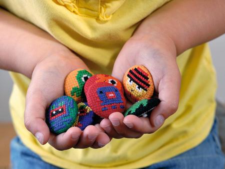 Little Monster Cross-Stitch Buttons