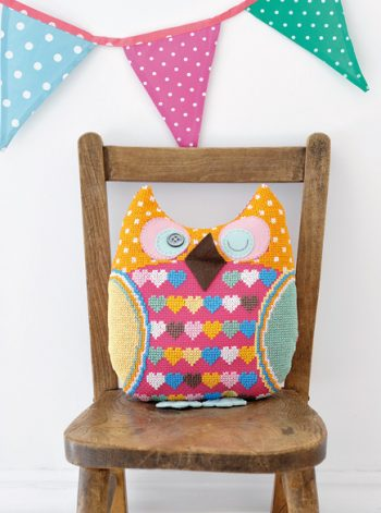 """What a Hoot"" Cross-Stitch Owl"