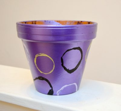 Decorated Flowerpot