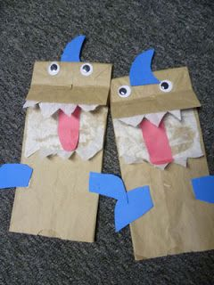 Shark Paper Bag Puppet