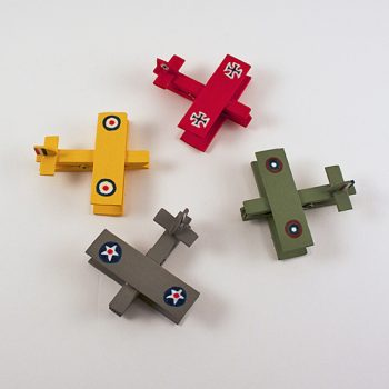 Snoopy-Inspired Clothespin Airplanes