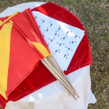No-Sew Semaphore Flags