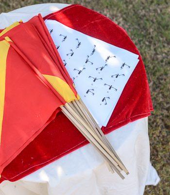 No-Sew Semaphore Flags