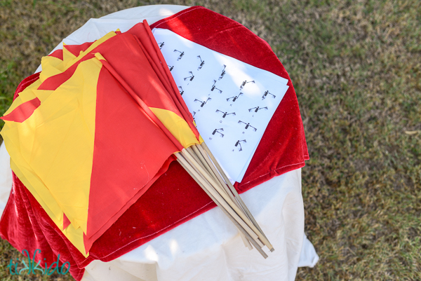 No Sew Semaphore Flags Fun Family Crafts
