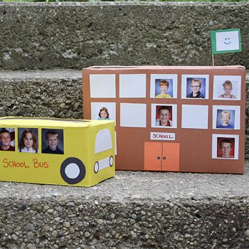 Tissue Box School Bus & Cereal Box School