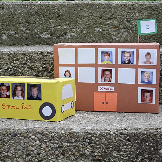 Tissue Box School Bus & Cereal Box School