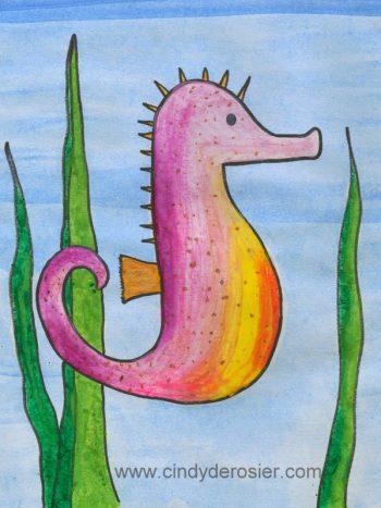 Crayon Melt Seahorse