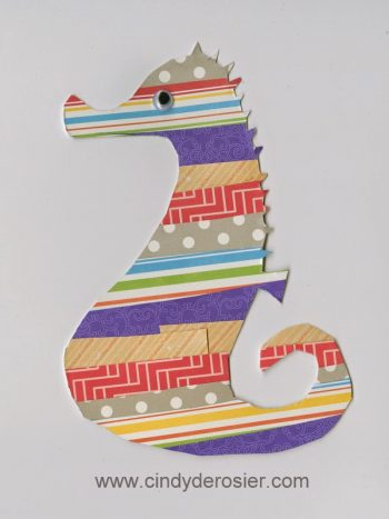 Scrap Paper Seahorse