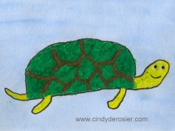 Mixed Media Turtle