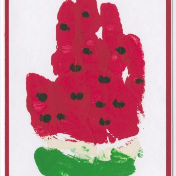 Handprint Watermelon