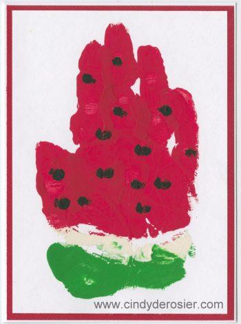 Handprint Watermelon