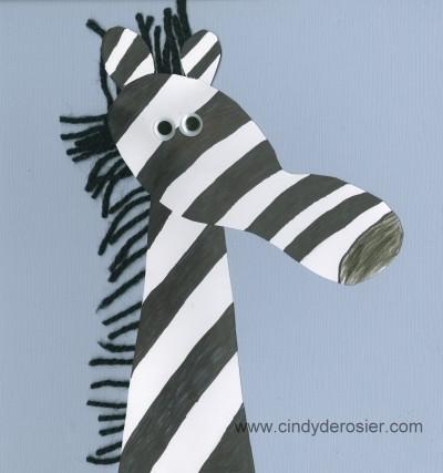 Footprint Zebra Fun Family Crafts