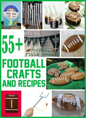 55+ Football Crafts & Recipes for Kids