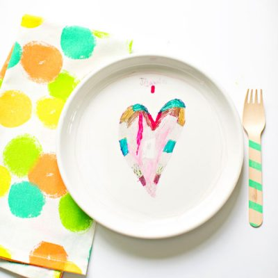 Sharpie Art on Plate