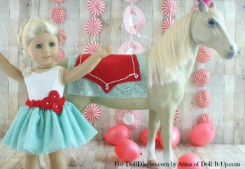 Circus Act Costumes for a Doll and her Horse