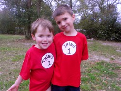 No-Sew Thing 1 and Thing 2 Shirts