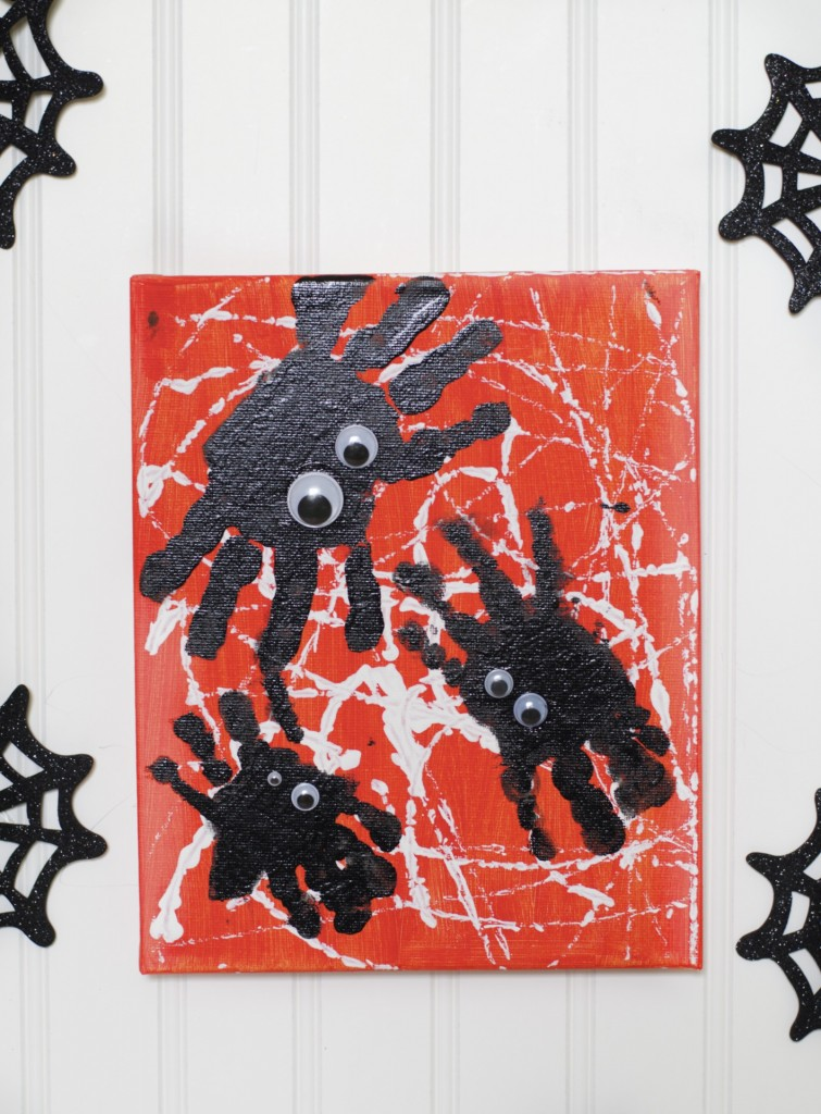 Spooky Spider Handprint Art