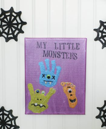 Monster Handprint and Footprint Art