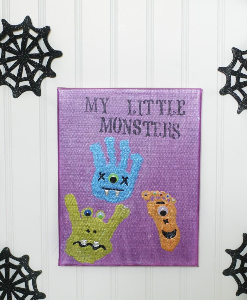 Monster Handprint and Footprint Art