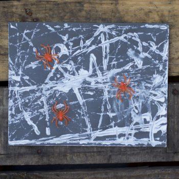 Spider Web Marble Art