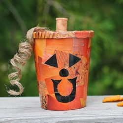 Decoupage Pumpkin Treat Cup